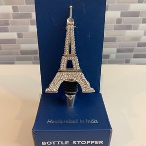 Handcrafted Eiffel Tower Jeweled Bottle Stopper
